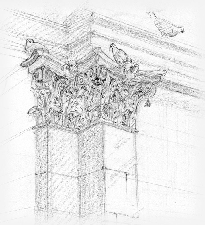 Ruth Tait sketch from Architectural motifs